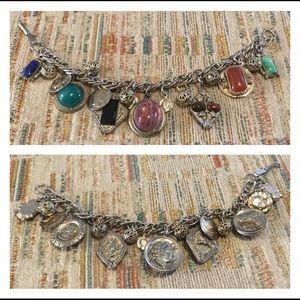 Vintage Roman/Egyptian Themed Charm Bracelet-FIRM!